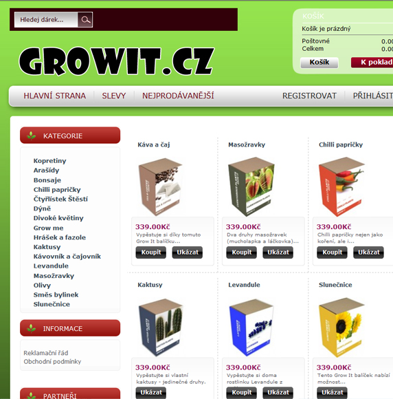 Vzhled Growit.cz