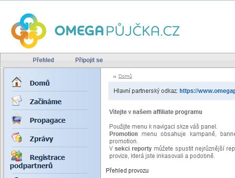 Omega Půjčka affiliate